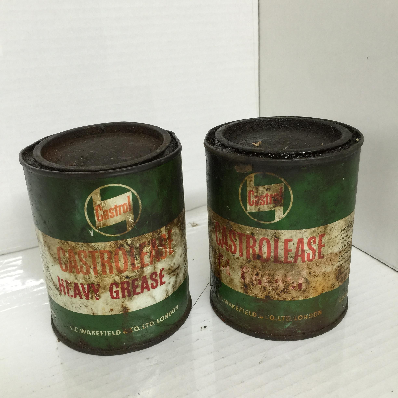 Vintage Castrolease Grease Tins