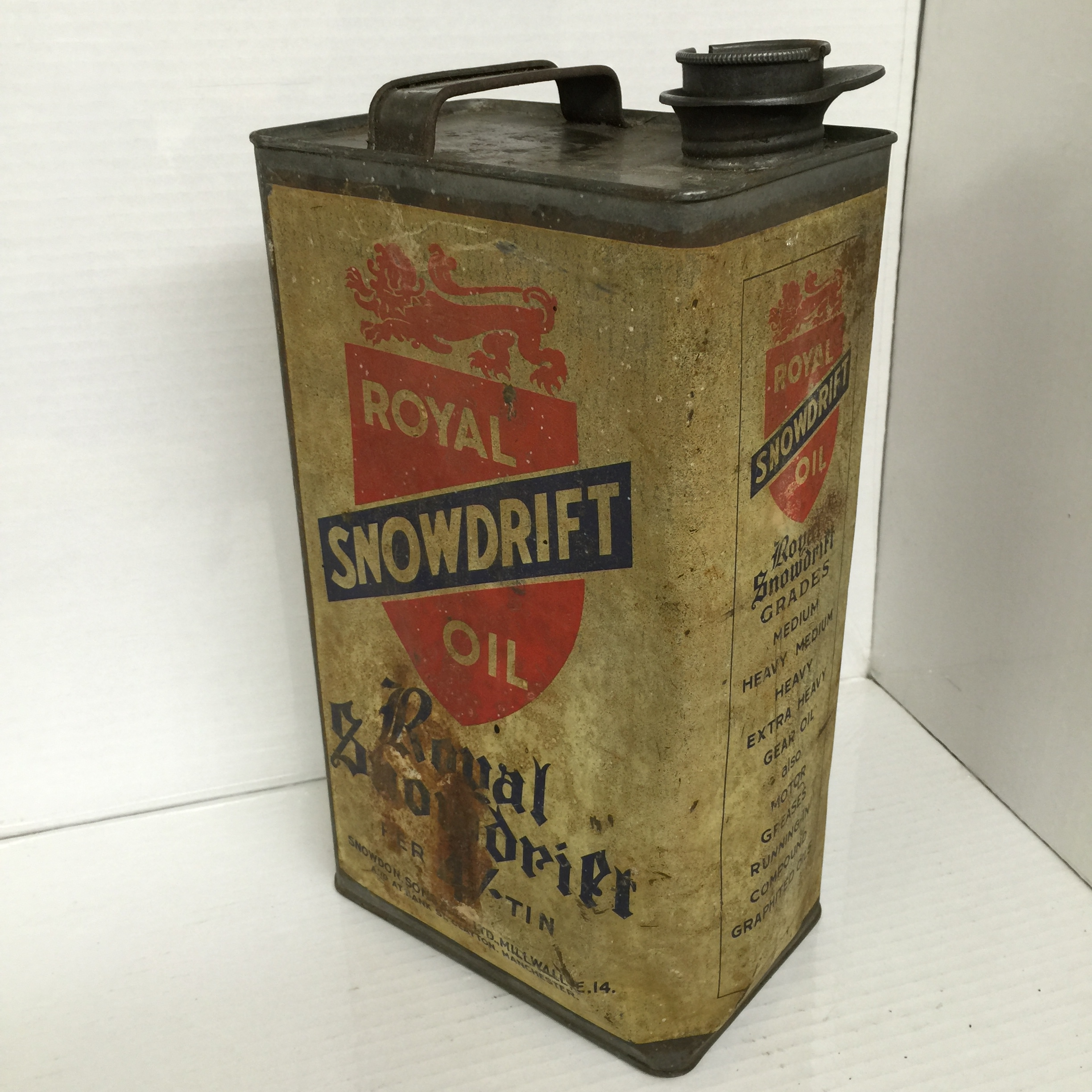 Vintage Royal Snowdrift Oil Can