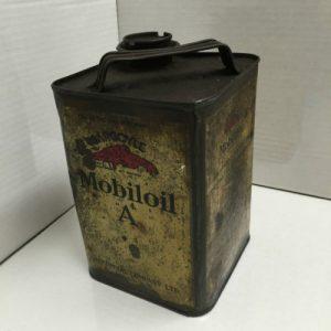 Vintage Gargoyle Mobiloil A Can