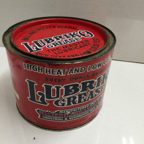 Vintage Lubriko Grease Tin