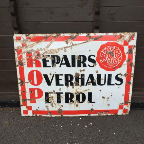 Vintage ROP Sign