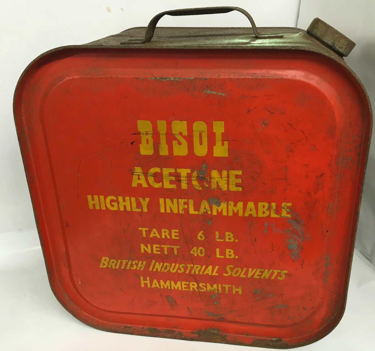 Vintage Bisol Acetone Fuel Can