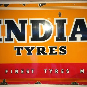 Vintage India Tyres Enamel Sign