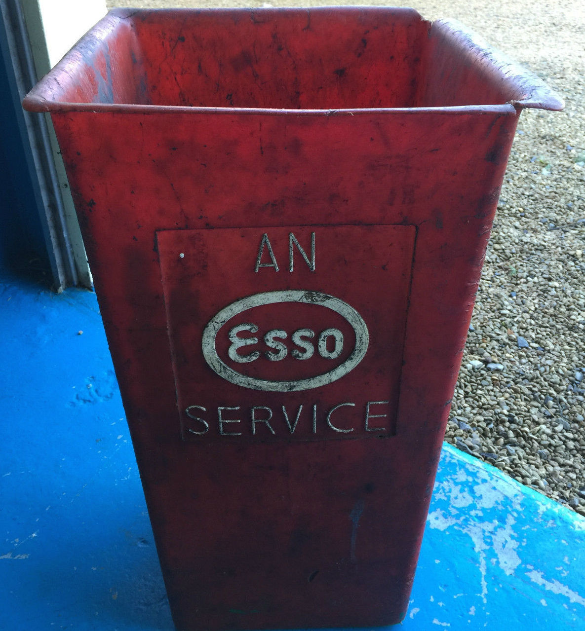 Vintage Automobilia Plastic Esso Bin