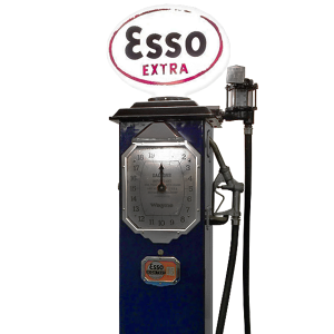 Vintage Wayne Petrol Pump Plus Original Esso Glass Globe Automobilia