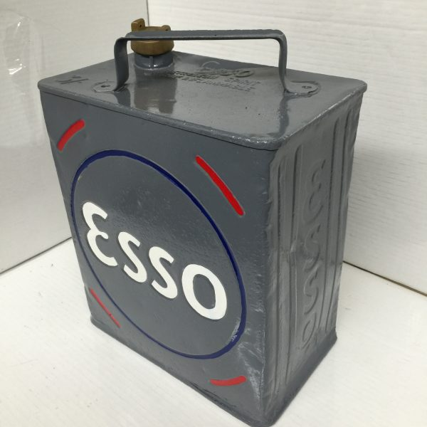 Vintage Repainted Esso Petrol Can