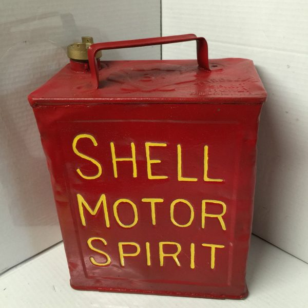Vintage Shell Motor Spirit Can