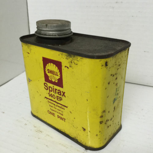 Vintage Shell Spirax Oil Can