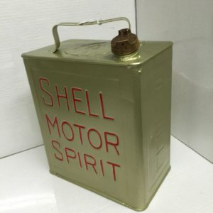Vintage Repainted Shell Motor Spirit Can