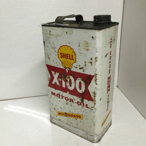 Vintage Shell X-100 Motor Oil Multi-Grade Can