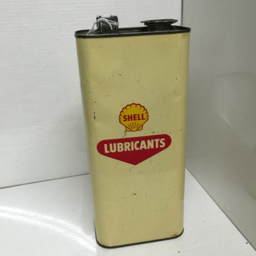 Vintage Shell Lubricants Can
