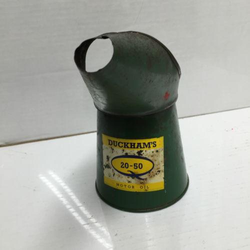 Vintage DUckhamd 20-50 Motor Oil Jug Pourer