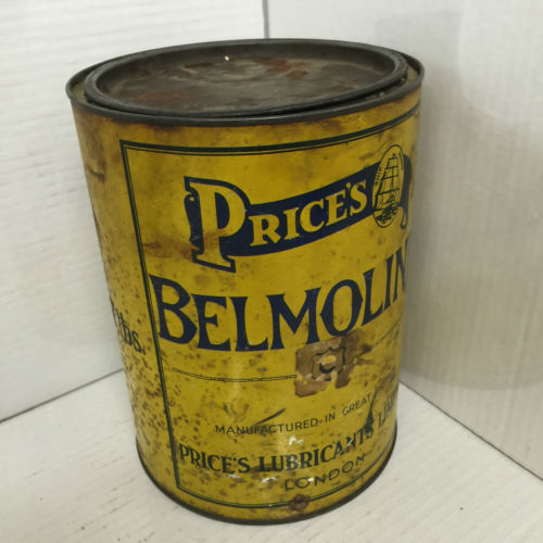 Vintage Price's Belmoline Grease Can