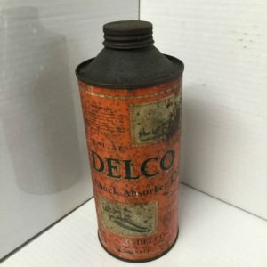 Vintage Delco Shock Absorber Oil Tin