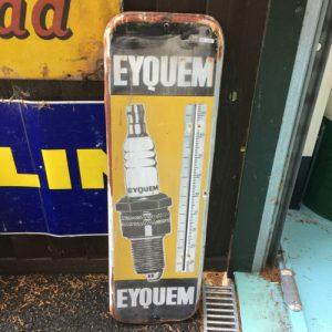 Vintage Eyquem Temperature Sign