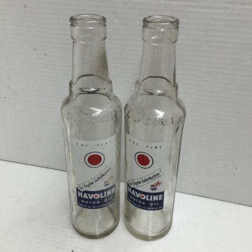 Vintage Havoline Motor Oil Bottle