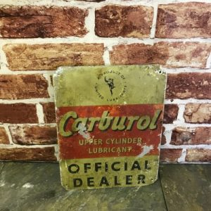 Vintage Carburol Official Dealer Sign