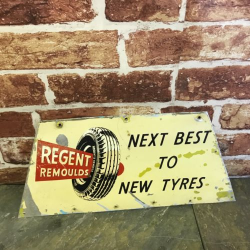 Vintage Regent Remoulds Next Best To New Tyres Sign