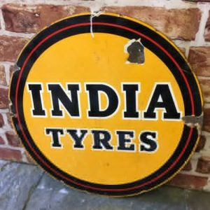 Vintage India Tyres Sign